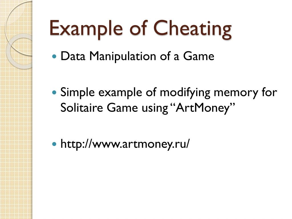 Example of Cheating