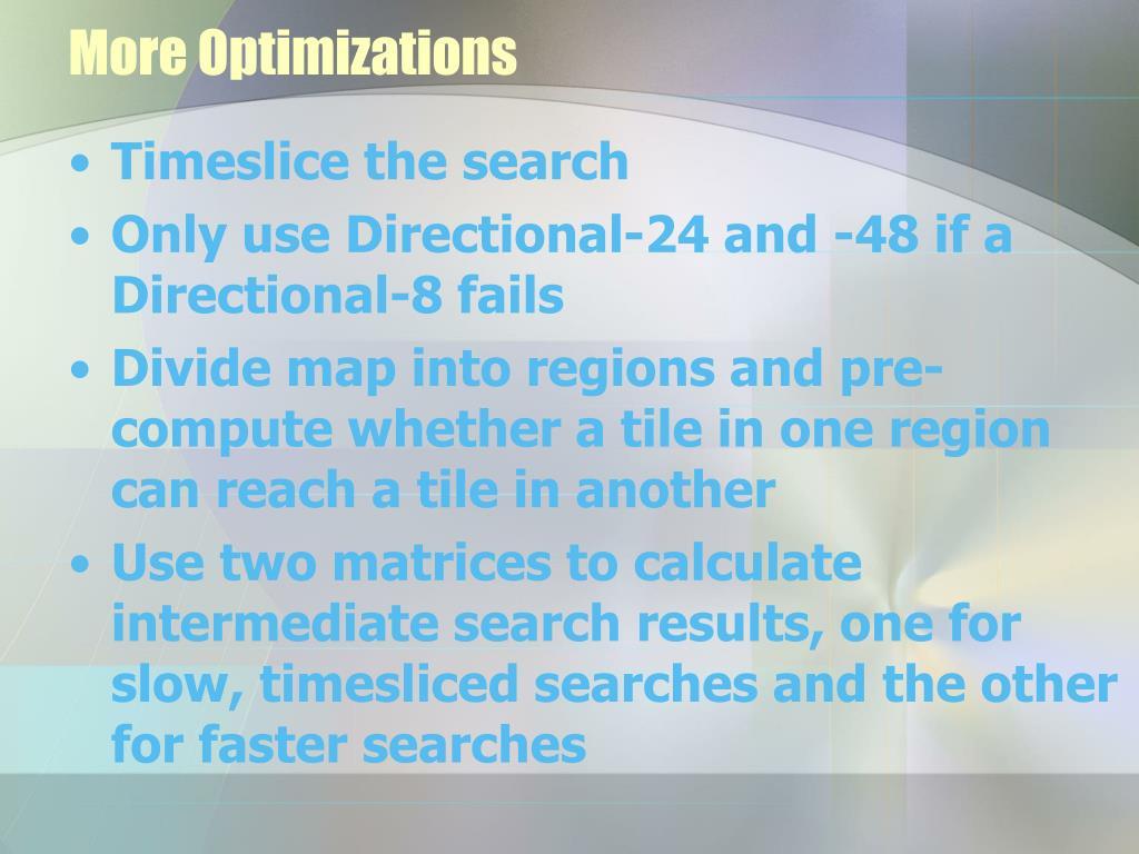 More Optimizations