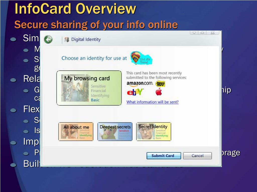 InfoCard Overview