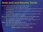 state and local security trends