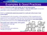 examples good practices34