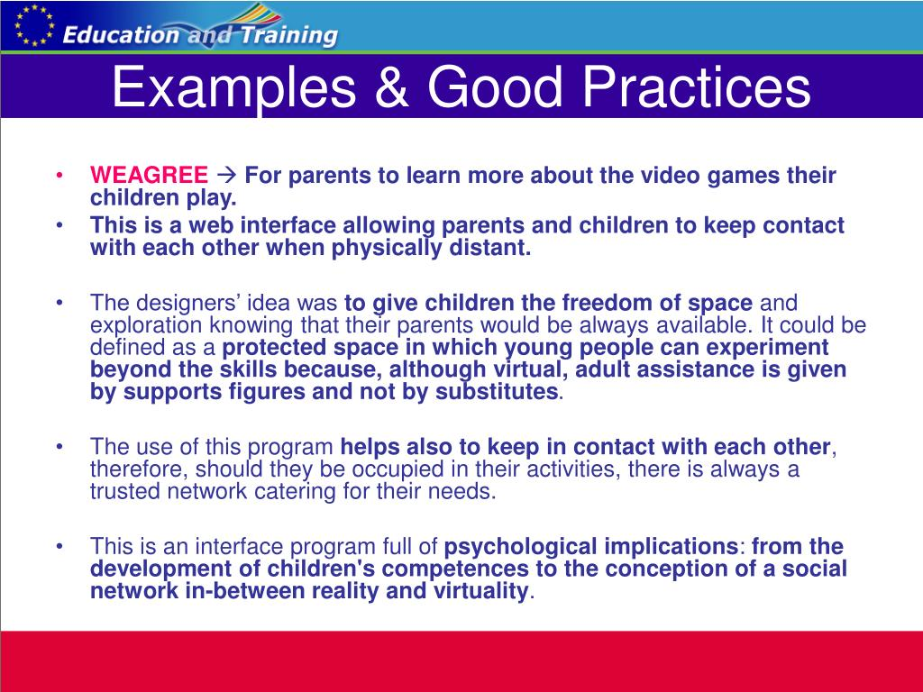 Examples & Good Practices