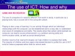 the use of ict how and why18