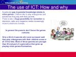 the use of ict how and why21