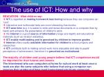 the use of ict how and why22