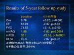 results of 5 year follow up study