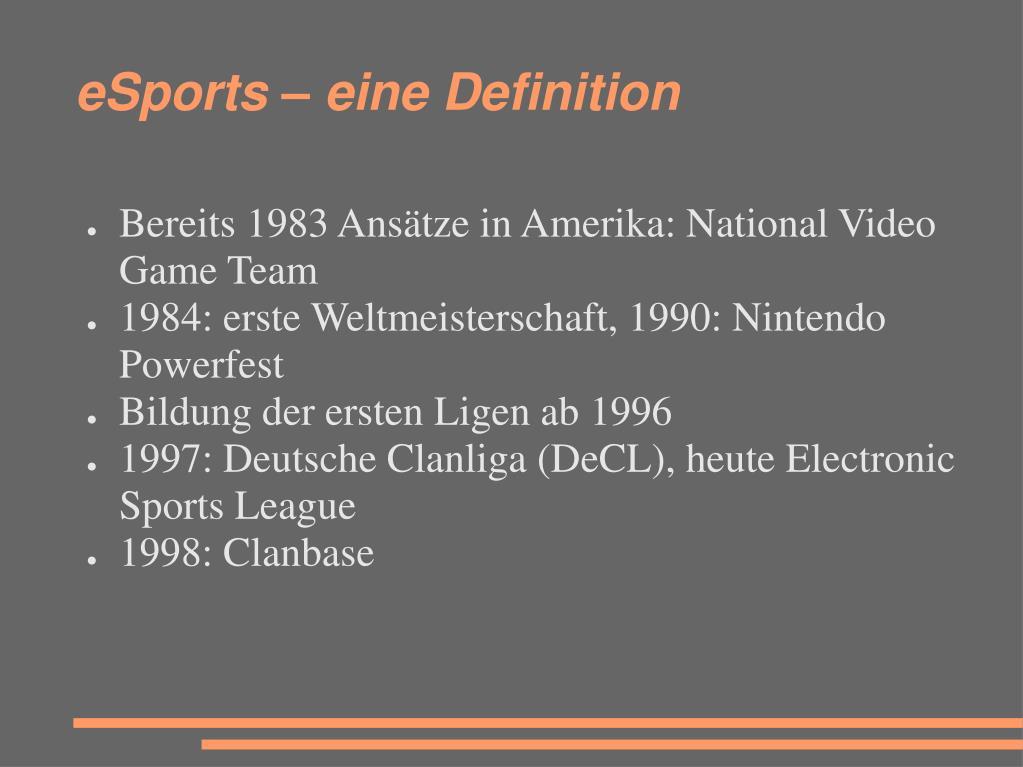 eSports – eine Definition