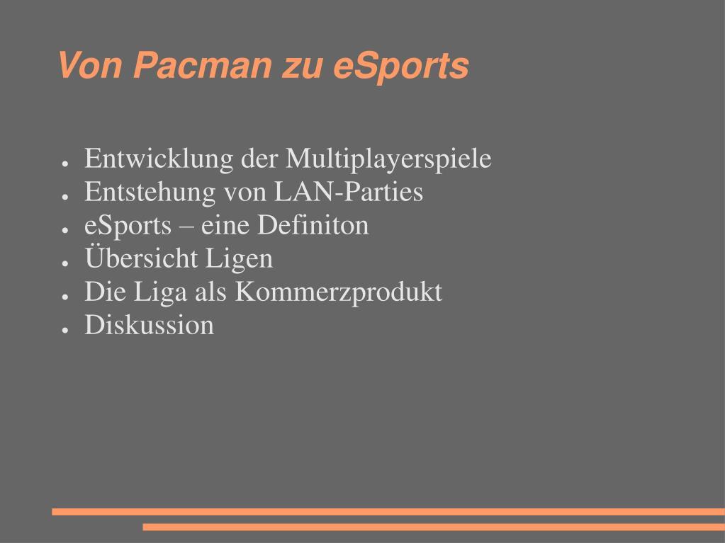 Von Pacman zu eSports