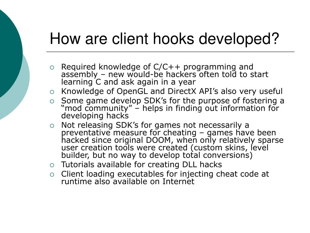 How are client hooks developed?