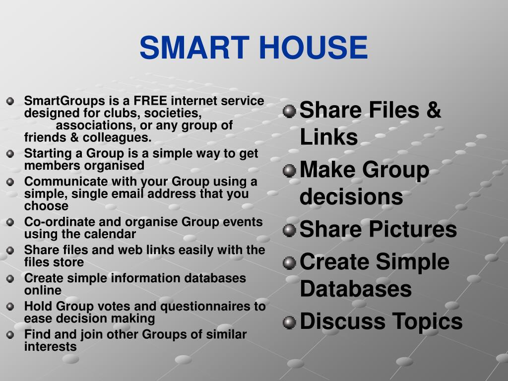 SmartGroups is a FREE internet service designed for clubs, societies, associations, or any group of friends & colleagues.