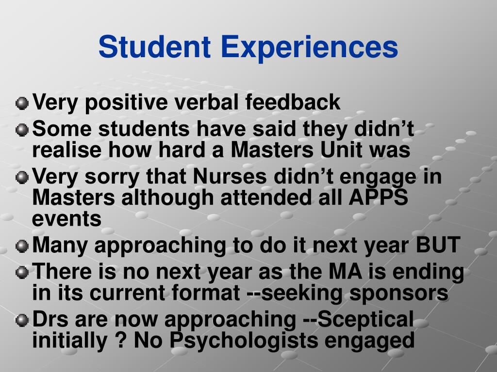 Student Experiences