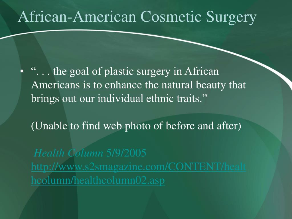 African-American Cosmetic Surgery