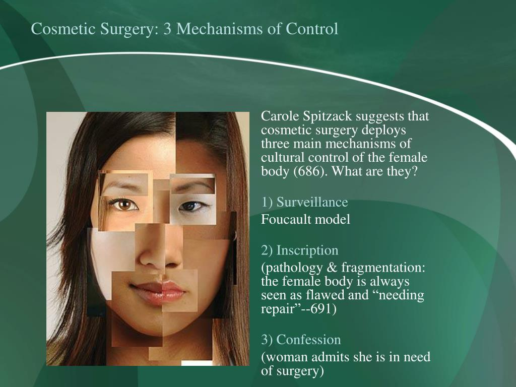 Cosmetic Surgery: 3 Mechanisms of Control
