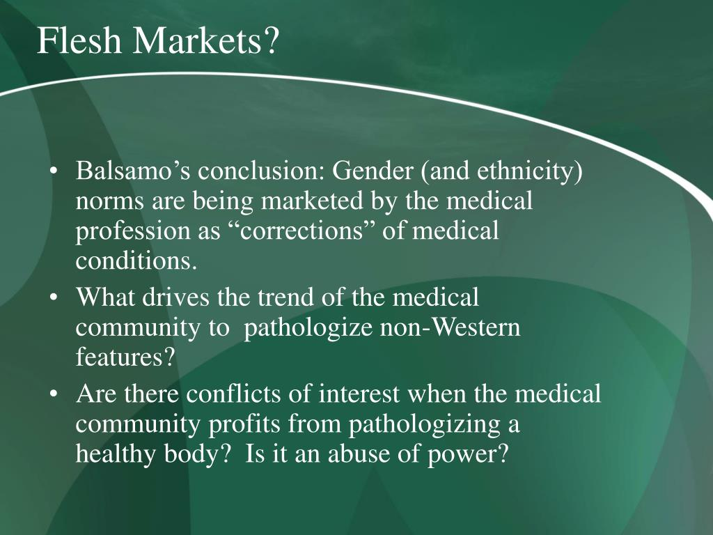 Flesh Markets?