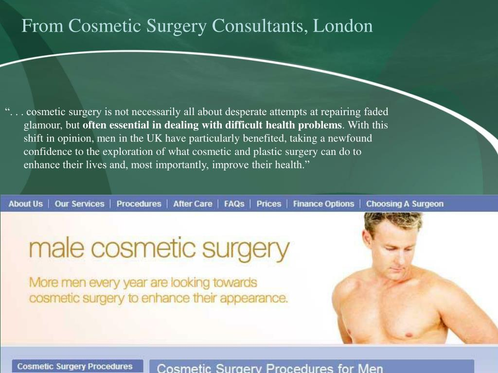 From Cosmetic Surgery Consultants, London