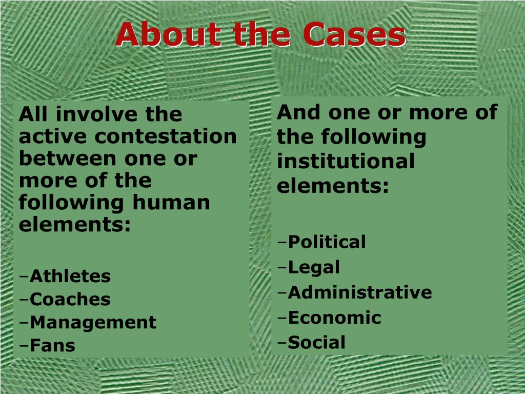 About the Cases