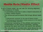 media role media effect