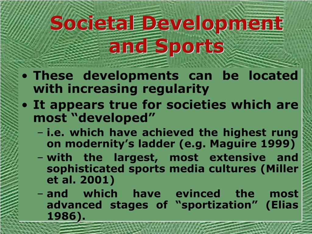 Societal Development