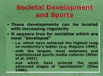 societal development and sports