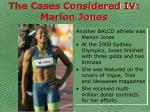 the cases considered iv marion jones