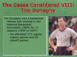 the cases considered viii tim donaghy