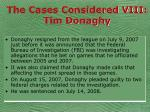 the cases considered viii tim donaghy55