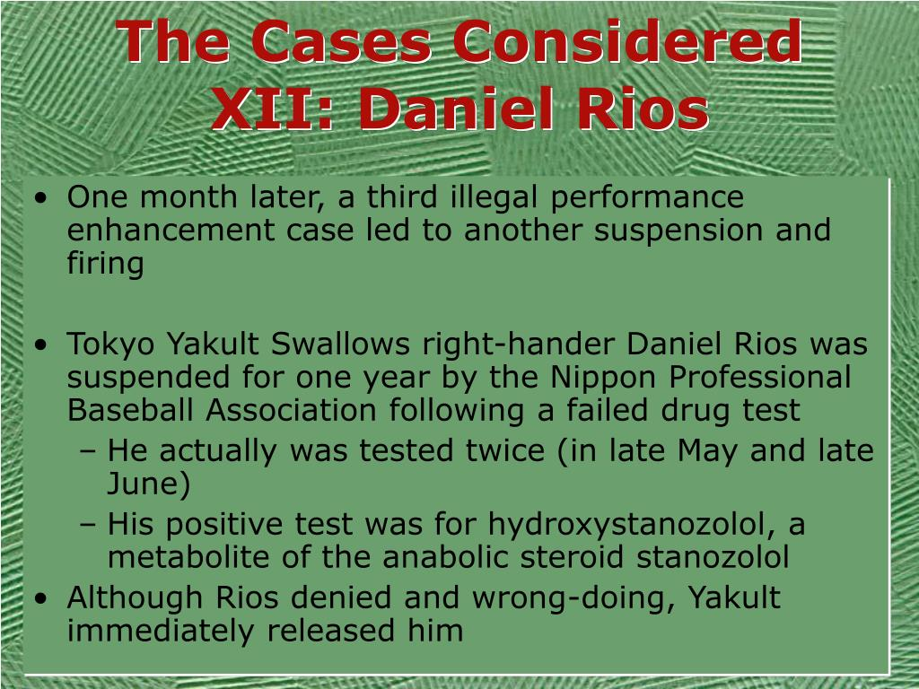The Cases Considered XII: Daniel Rios