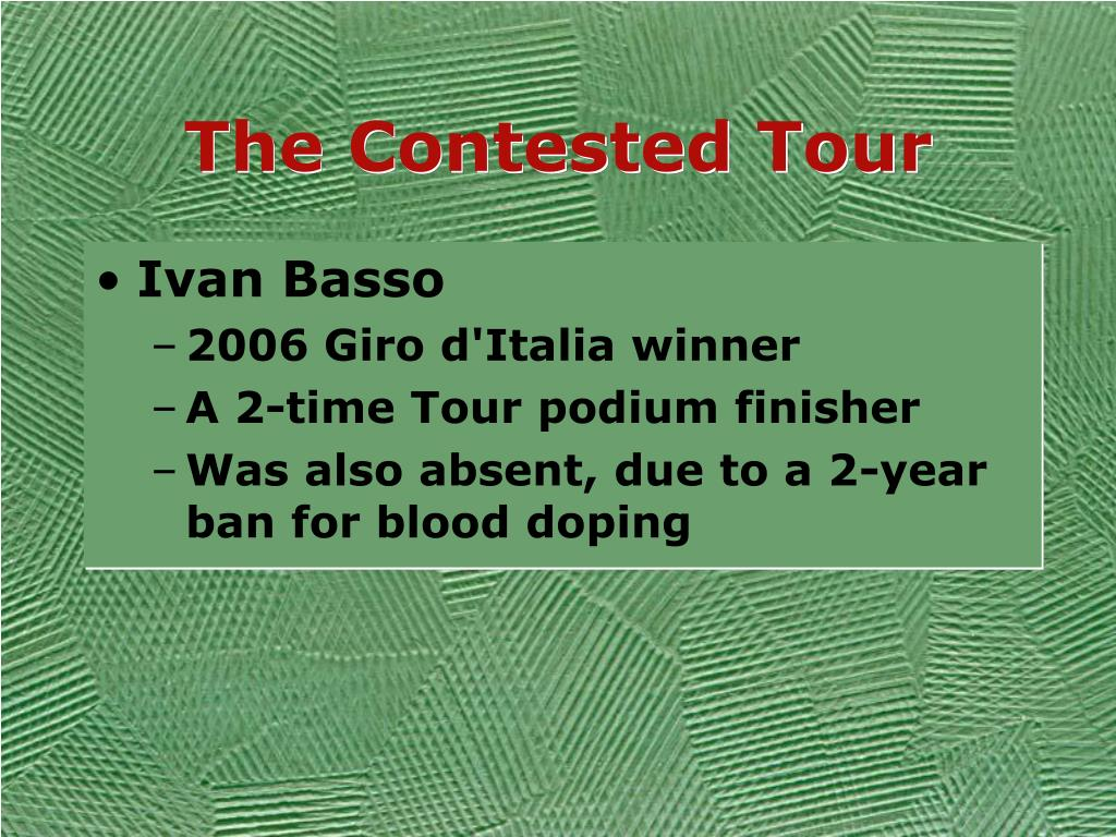 The Contested Tour