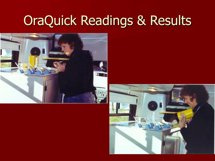 OraQuick Readings & Results