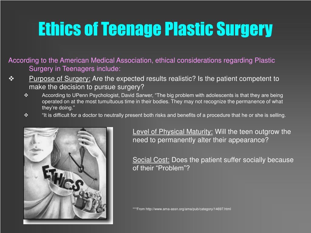 Ethics of Teenage Plastic Surgery