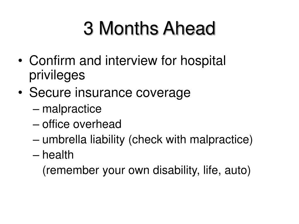 3 Months Ahead