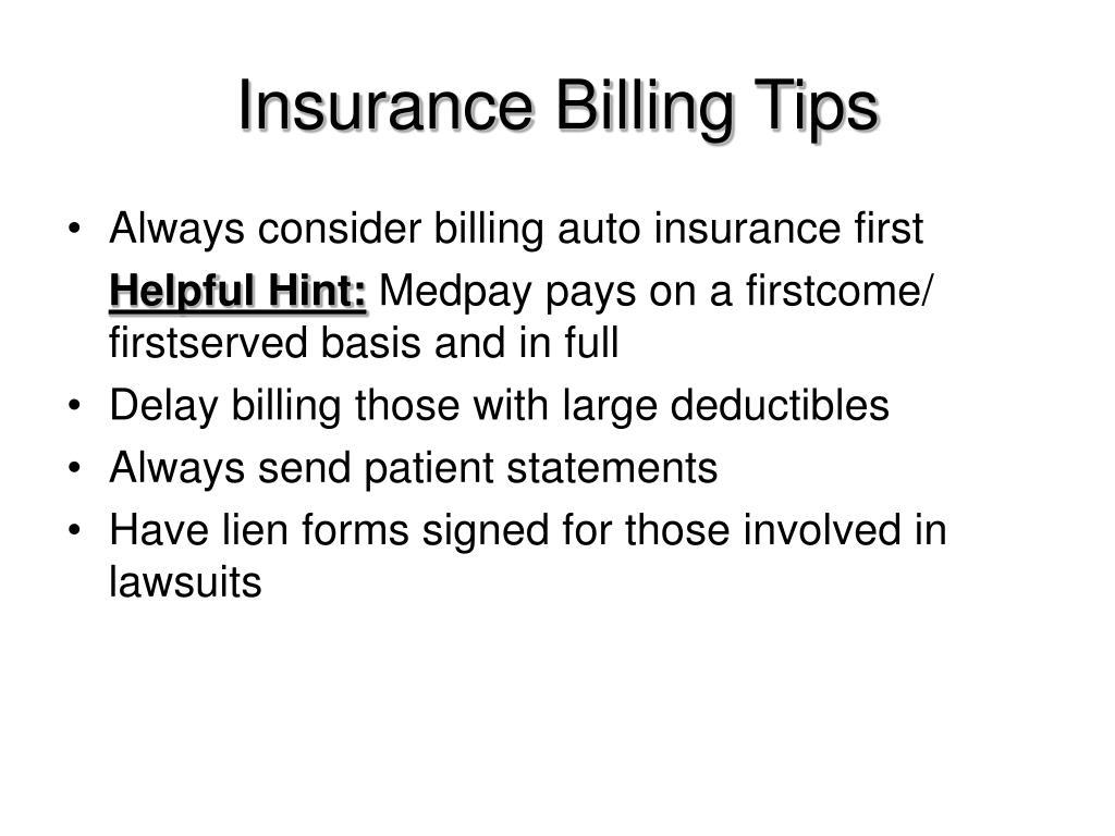 Insurance Billing Tips