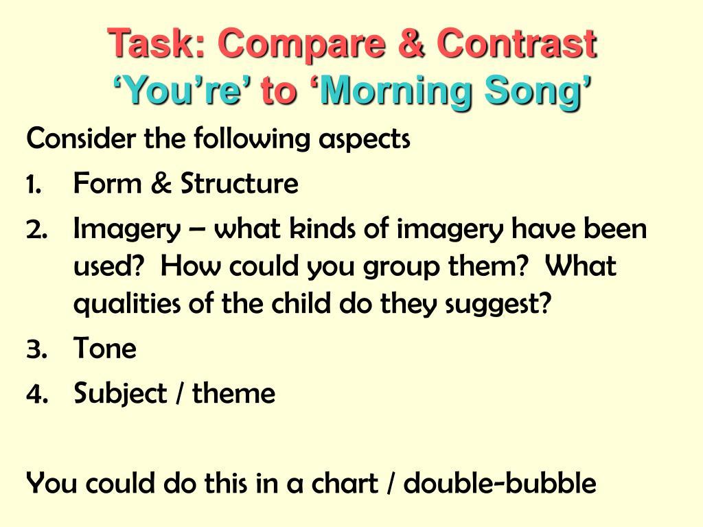 Task: Compare & Contrast