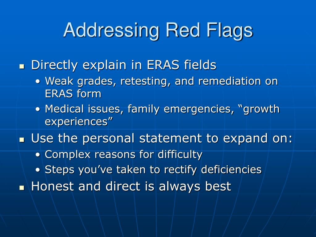 Addressing Red Flags