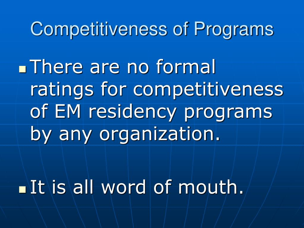 Competitiveness of Programs