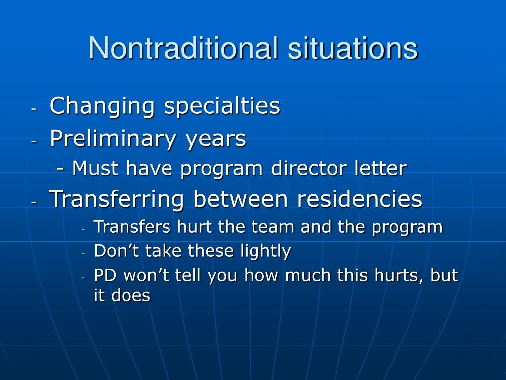 Nontraditional situations