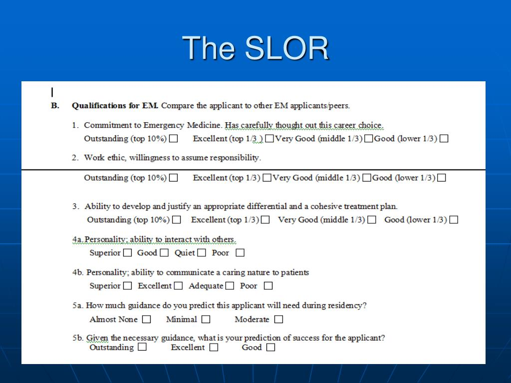 The SLOR
