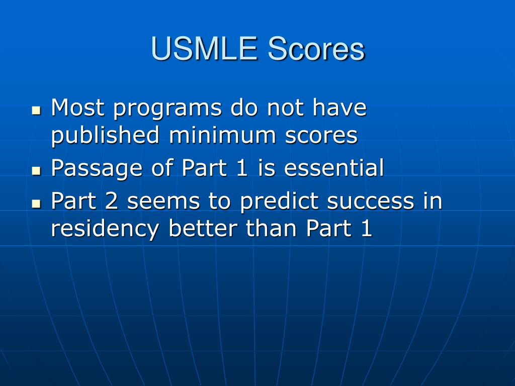 USMLE Scores