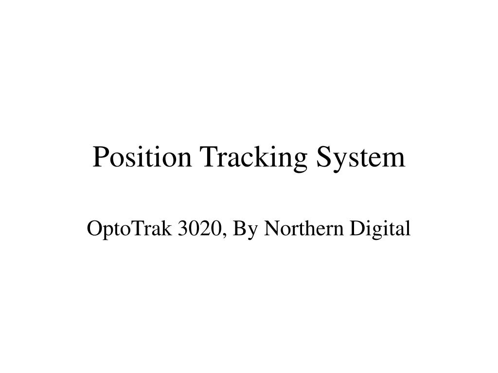 Position Tracking System