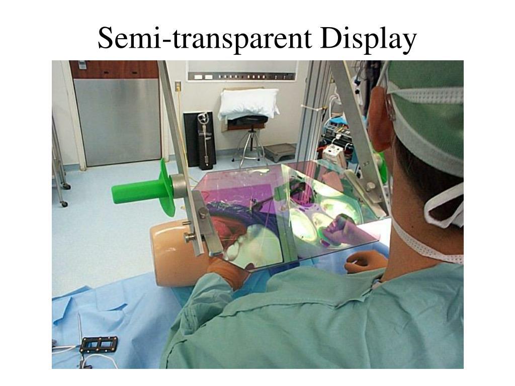 Semi-transparent Display