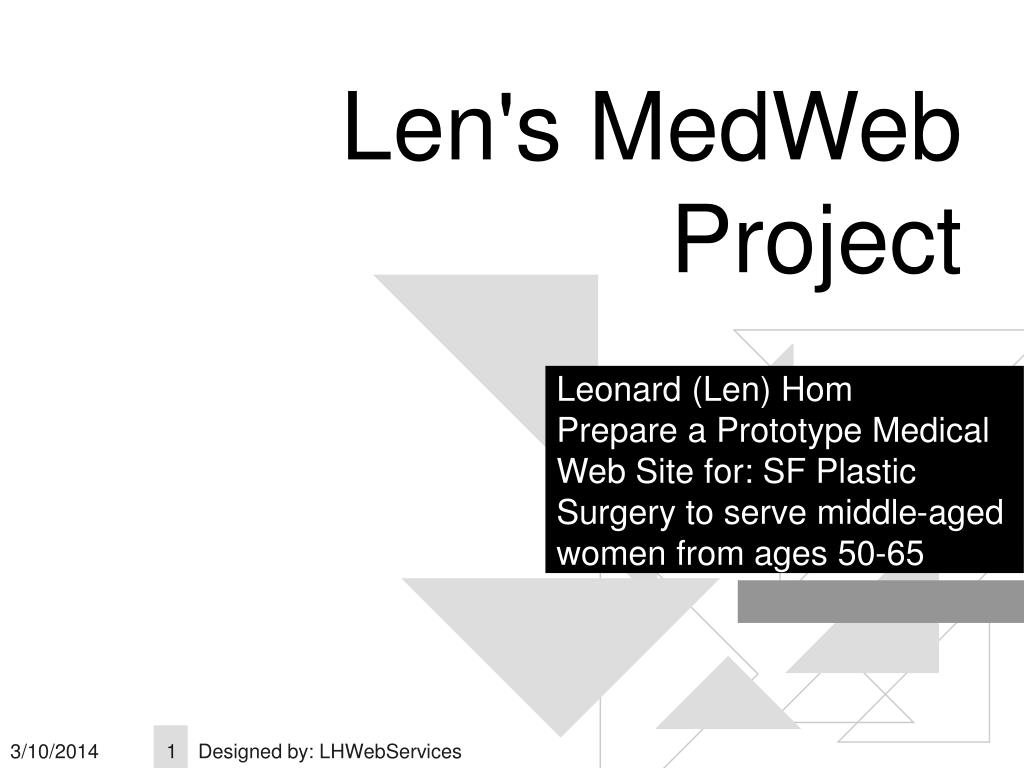 Len's MedWeb Project