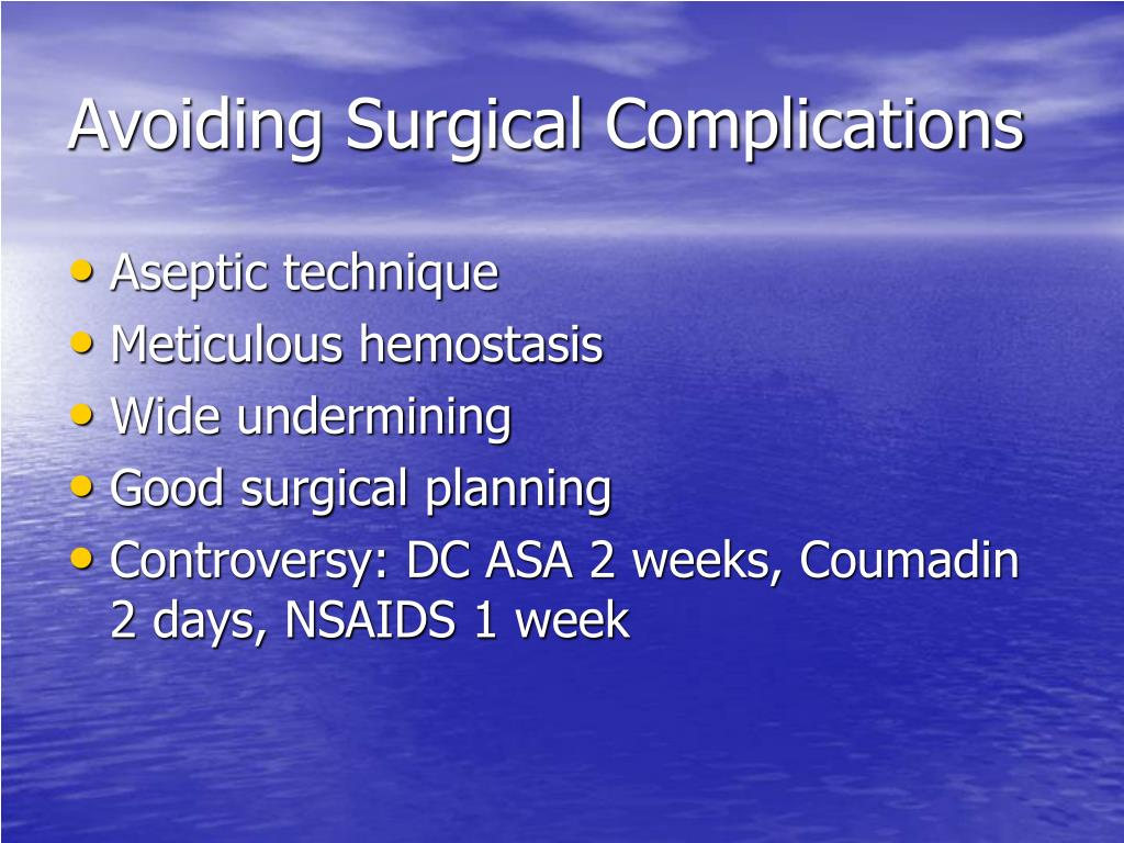Avoiding Surgical Complications