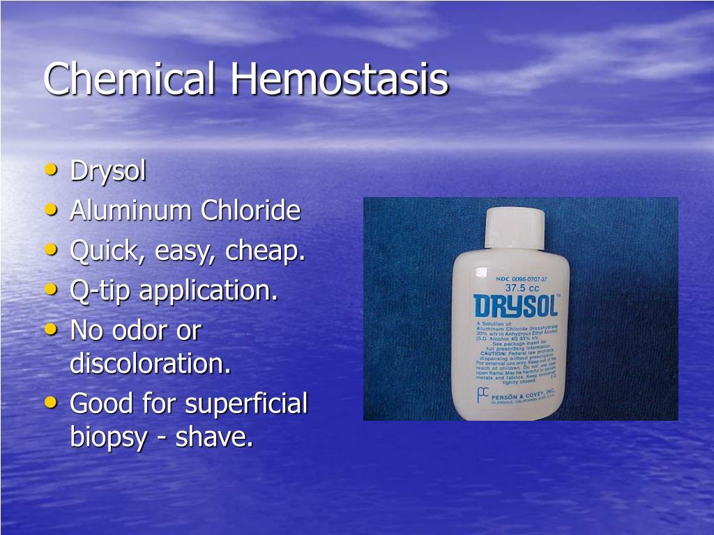 Chemical Hemostasis
