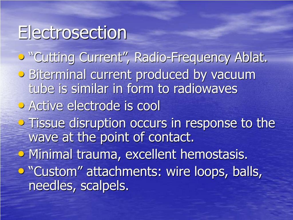 Electrosection