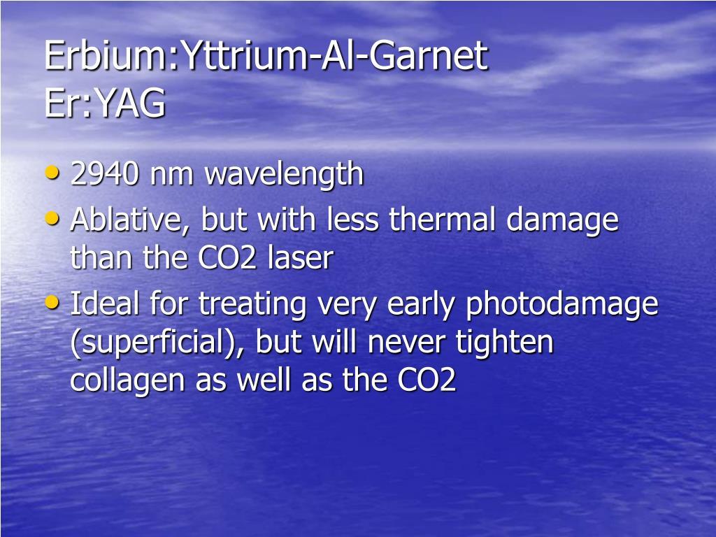 Erbium:Yttrium-Al-Garnet