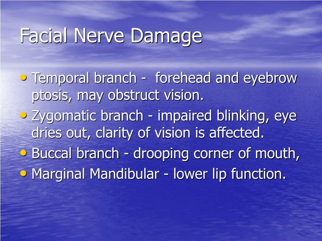 Facial Nerve Damage