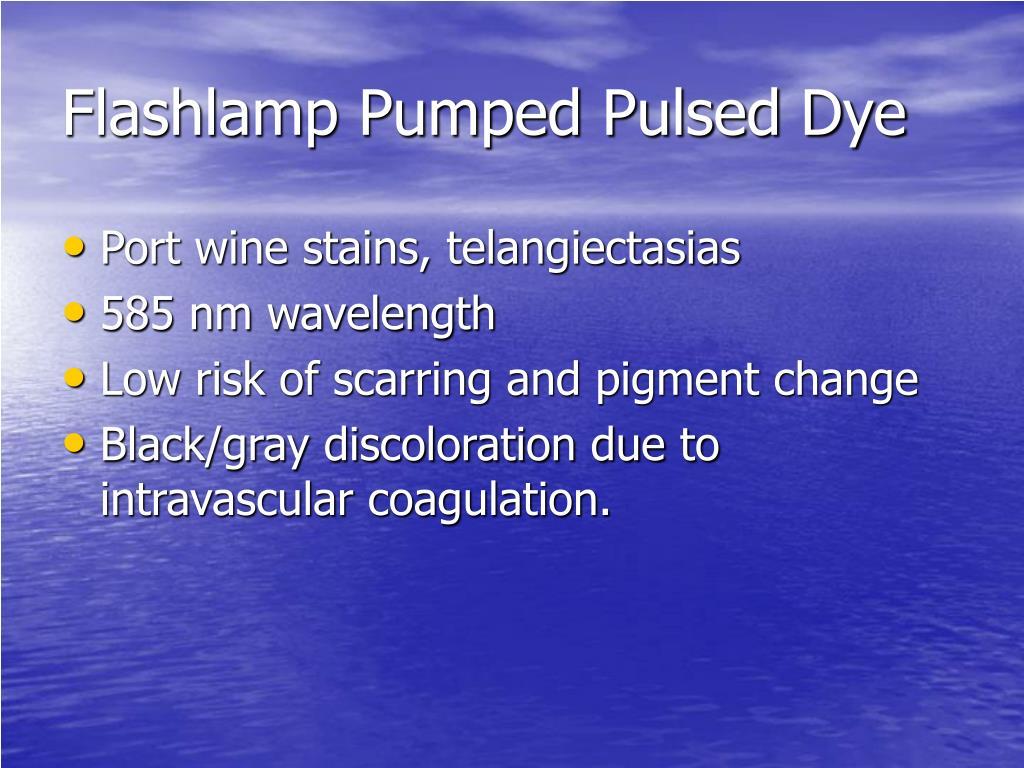 Flashlamp Pumped Pulsed Dye