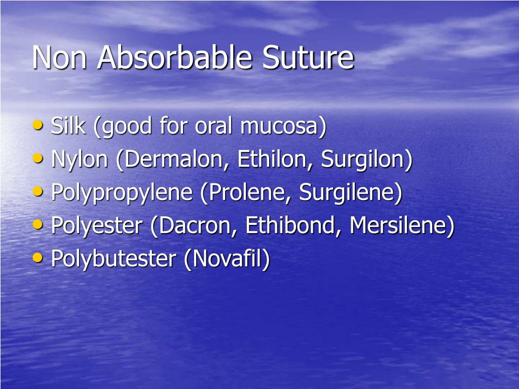 Non Absorbable Suture