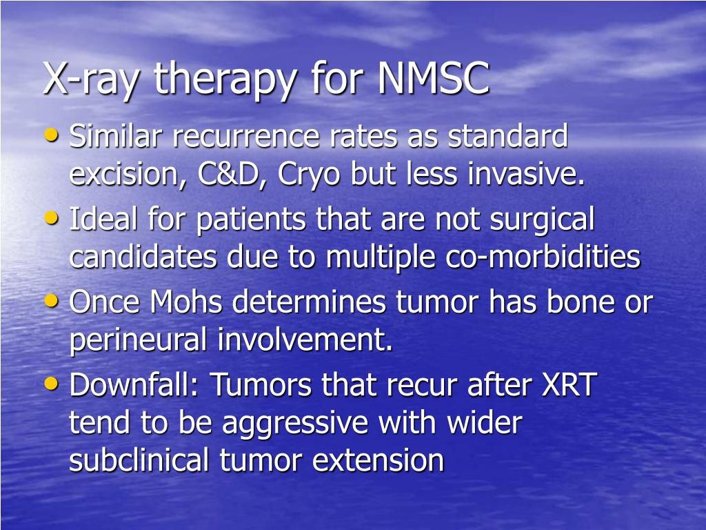 X-ray therapy for NMSC