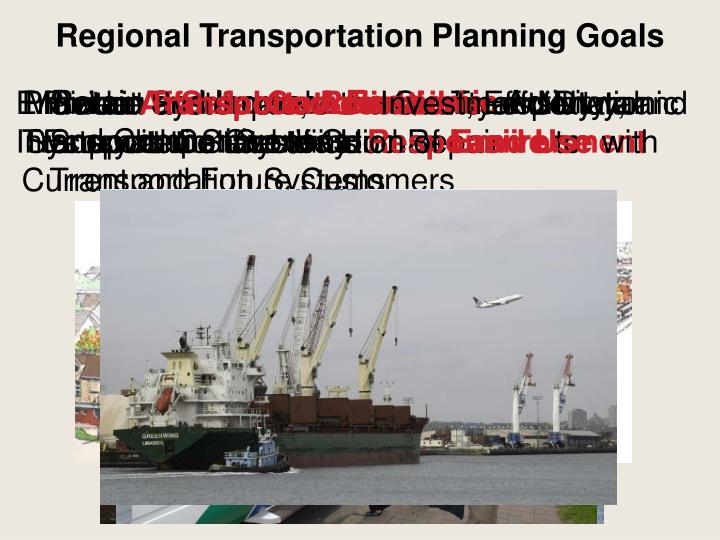 Regional Transportation Planning Goals